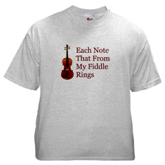 Christian Fiddle Shirt--Praise the Lord With Your Fiddle and Use This T-Shirt as a Witnessing Tool!