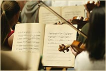 violin student, music history, header