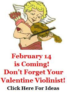 Valentines Day Gifts and Music for Violin