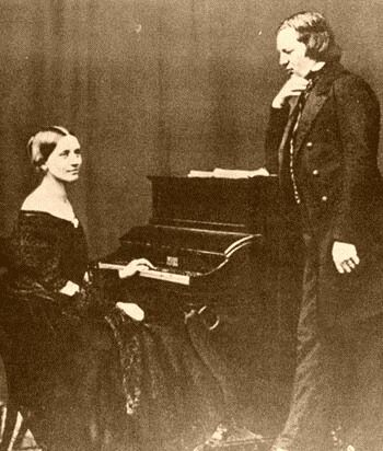 Robert Schumann and Clara Schumann