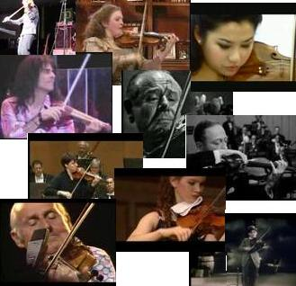 Violinist Videos--Some of the Most Amazing Violin Players Have Videos Available Online.  Click Here to See a Selection Including Mark Wood, Jean Luc Ponty, Rachel Barton Pine, Sarah Chang, Jascha Heifetz, Stephane Grappelli, Zino Francescatti, Willie Hall, the Incomparable Hilary Hahn, and more!